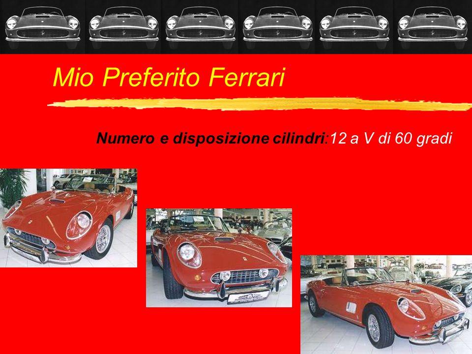 Mio Preferito Ferrari Numero e disposizione cilindri:12 a V di 60 gradi