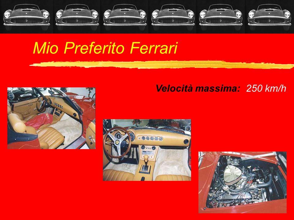 Mio Preferito Ferrari Velocità massima: 250 km/h