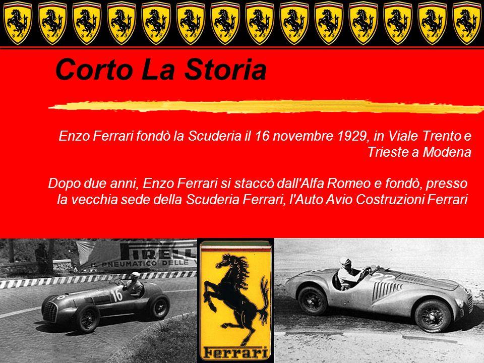 Corto La Storia Enzo Ferrari fondò la Scuderia il 16 novembre 1929, in Viale Trento e Trieste a Modena.