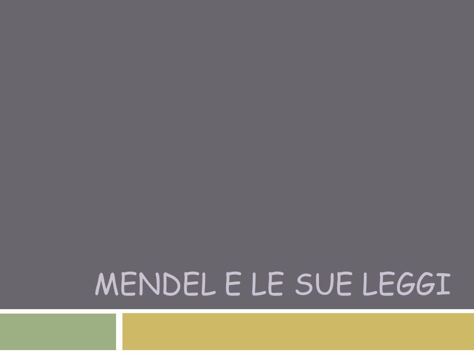 Mendel e le sue leggi