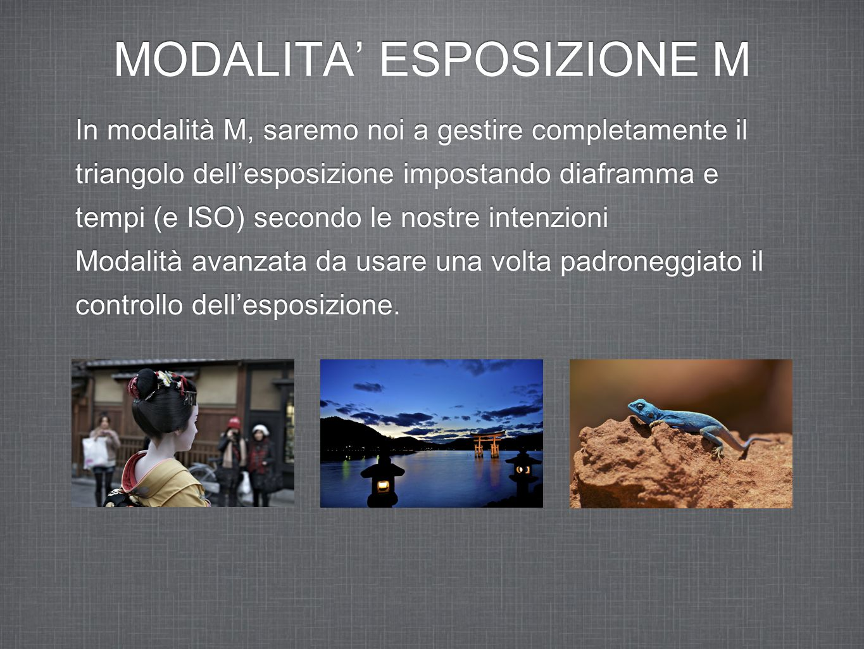 MODALITA' ESPOSIZIONE M