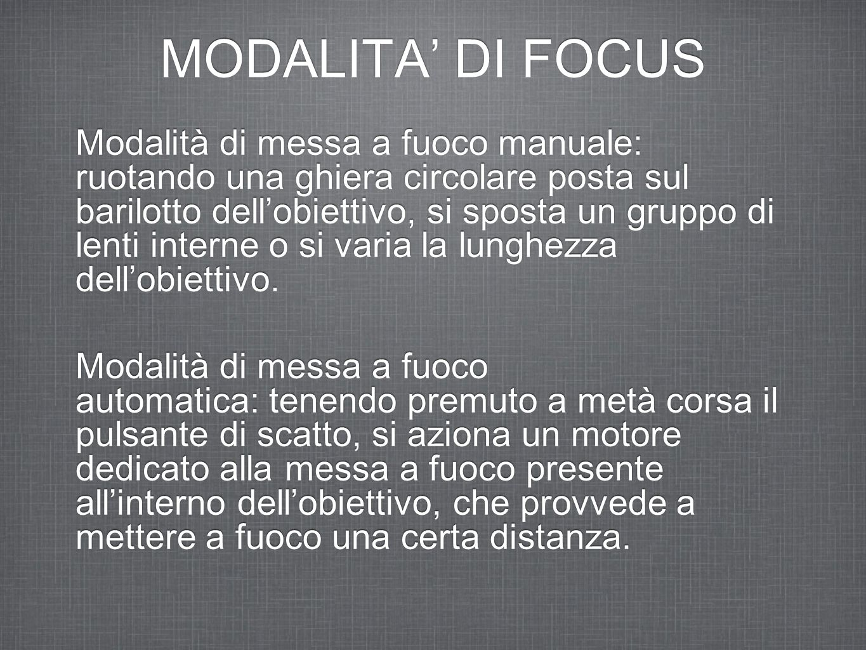 MODALITA' DI FOCUS