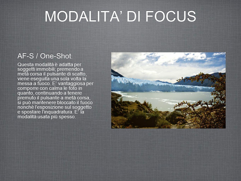 MODALITA' DI FOCUS AF-S / One-Shot: