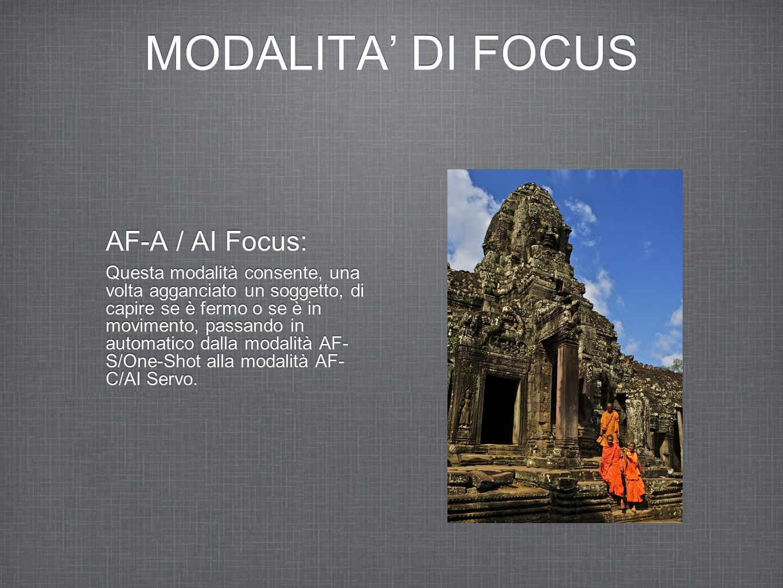 MODALITA' DI FOCUS AF-A / AI Focus: