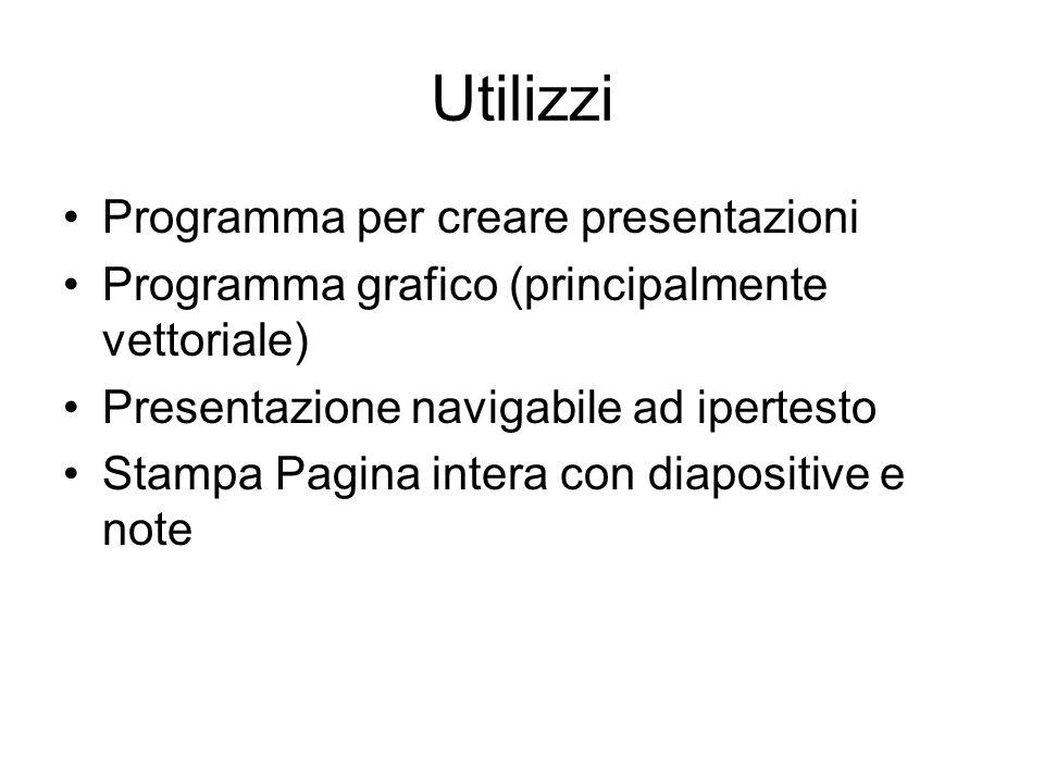 Utilizzi Programma per creare presentazioni