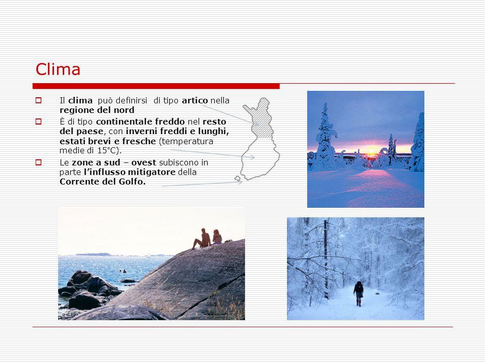 Clima Il clima può definirsi di tipo artico nella regione del nord