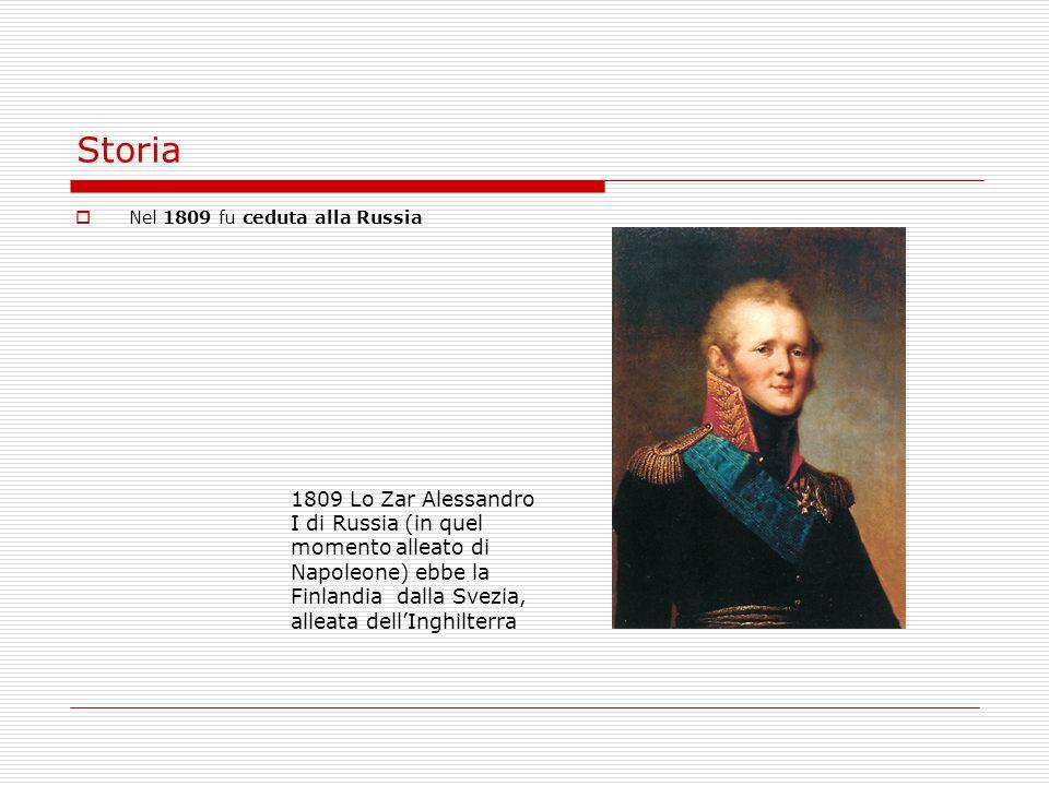 Storia Nel 1809 fu ceduta alla Russia.