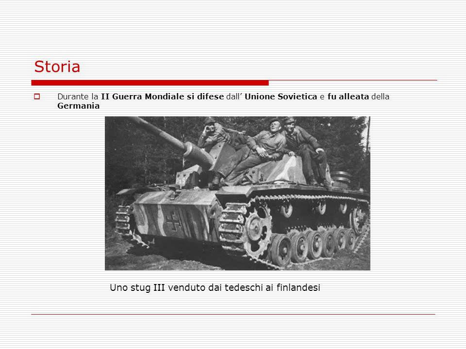 Storia Uno stug III venduto dai tedeschi ai finlandesi