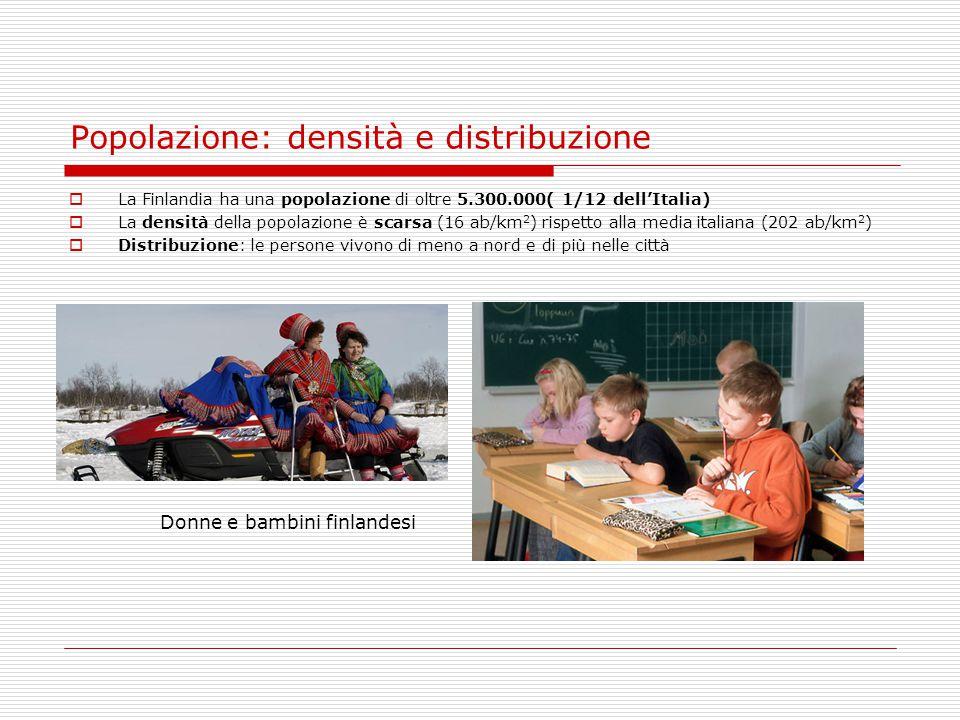 Popolazione: densità e distribuzione