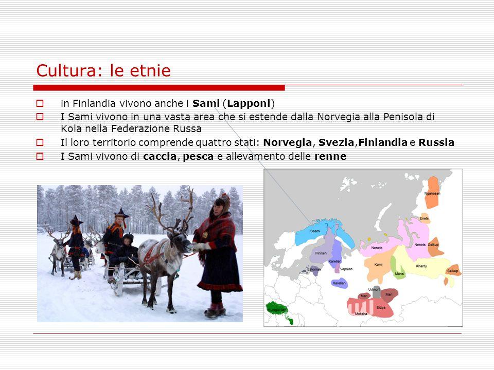 Cultura: le etnie in Finlandia vivono anche i Sami (Lapponi)