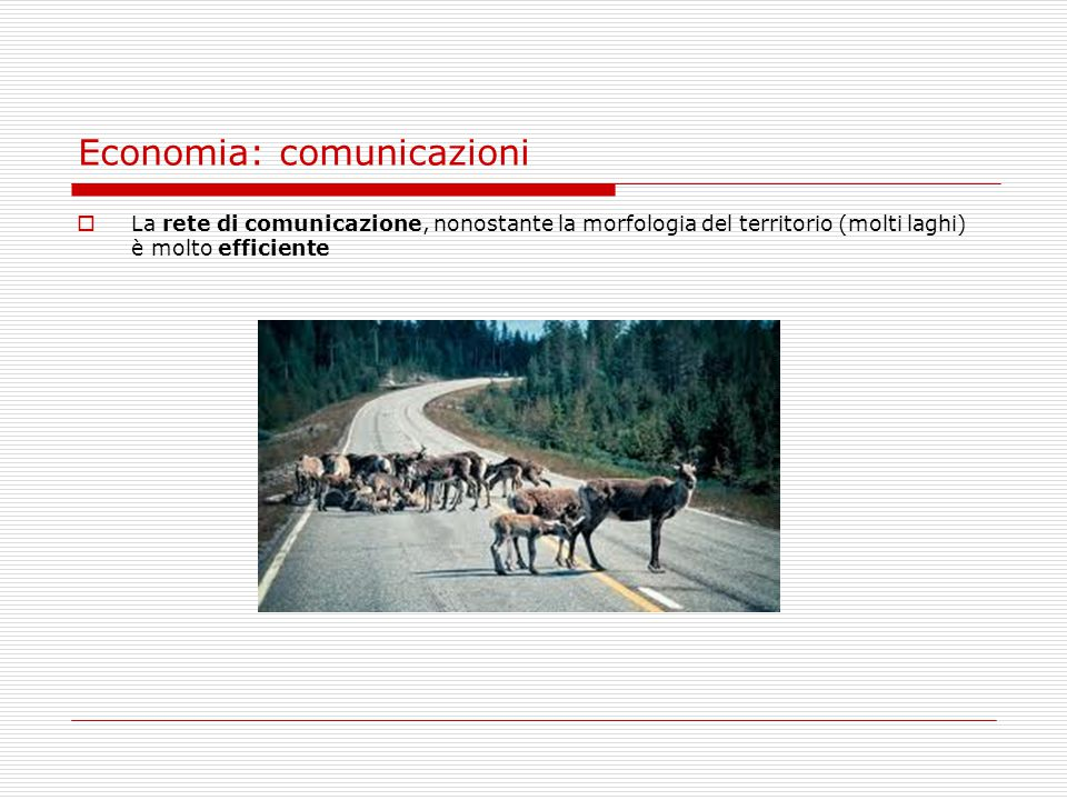 Economia: comunicazioni