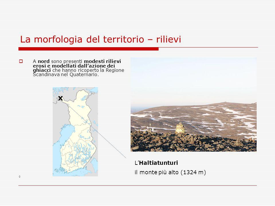 La morfologia del territorio – rilievi