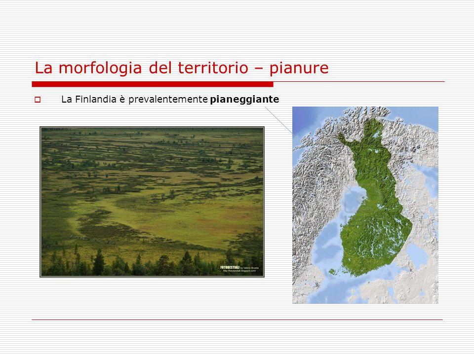 La morfologia del territorio – pianure