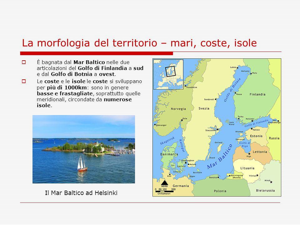 La morfologia del territorio – mari, coste, isole