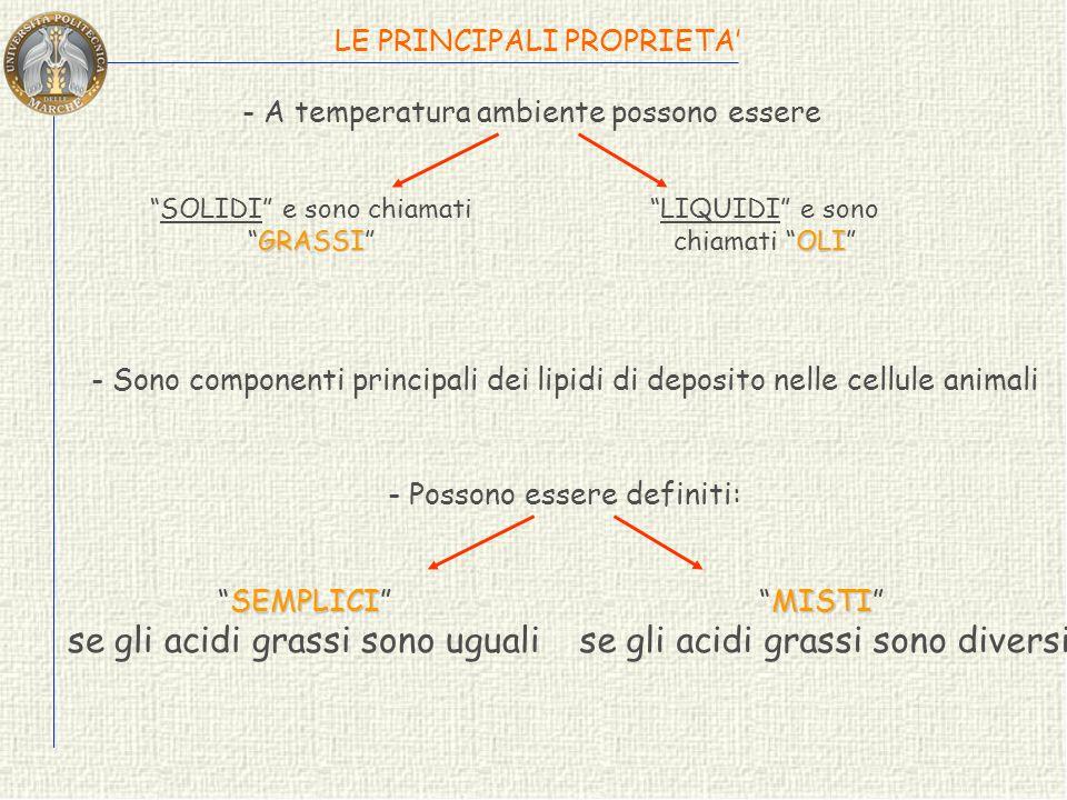 se gli acidi grassi sono uguali se gli acidi grassi sono diversi