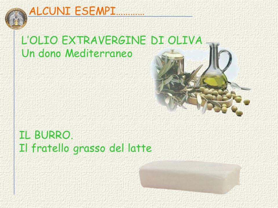 ALCUNI ESEMPI………… L'OLIO EXTRAVERGINE DI OLIVA. Un dono Mediterraneo.