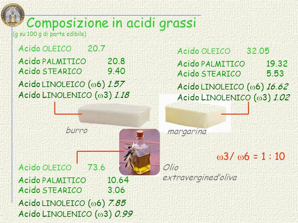 Composizione in acidi grassi