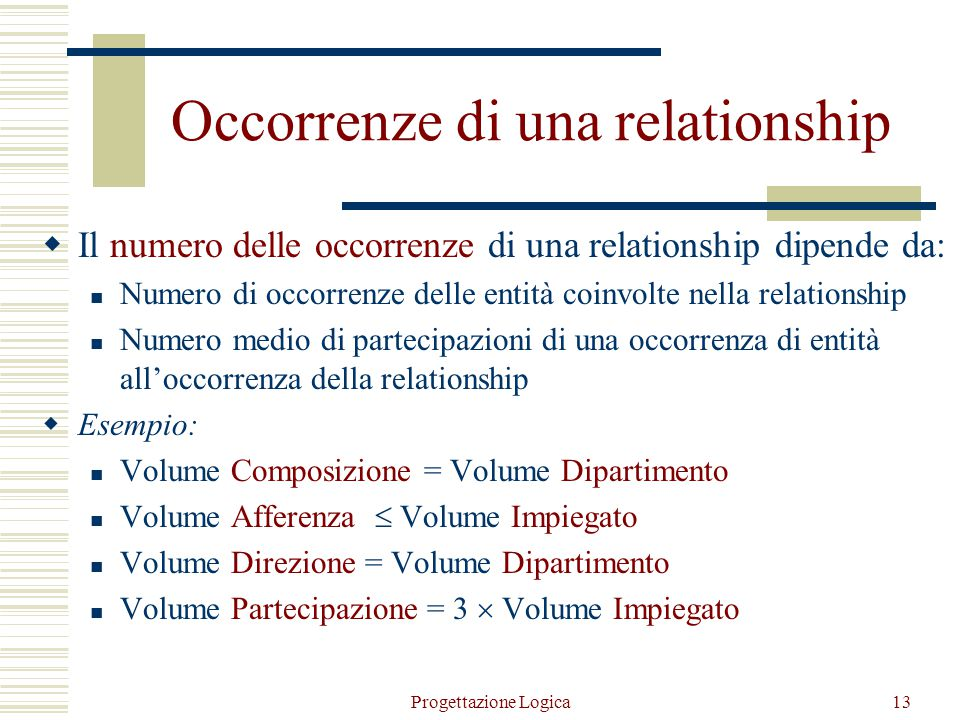 Occorrenze di una relationship
