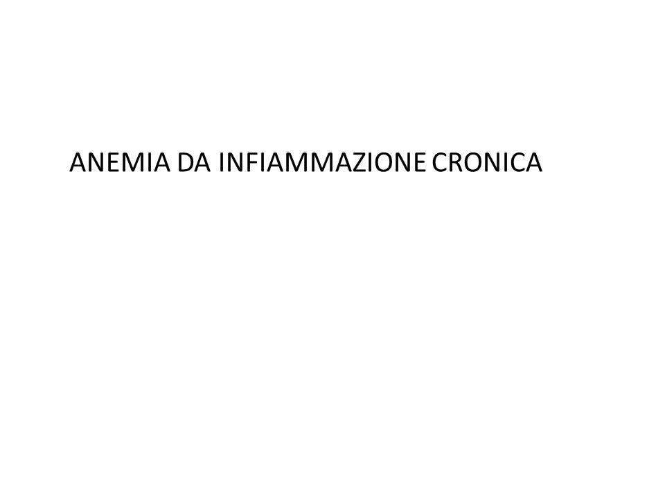ANEMIA DA INFIAMMAZIONE CRONICA
