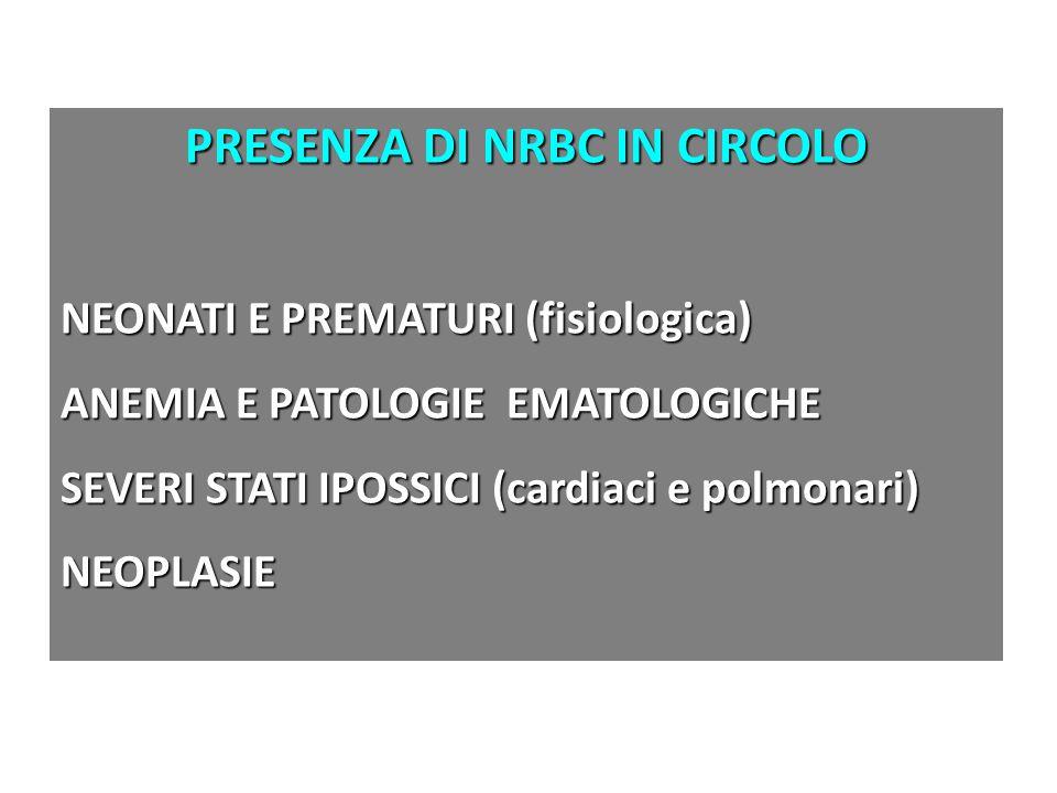 PRESENZA DI NRBC IN CIRCOLO
