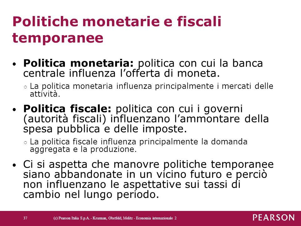 Politiche monetarie e fiscali temporanee