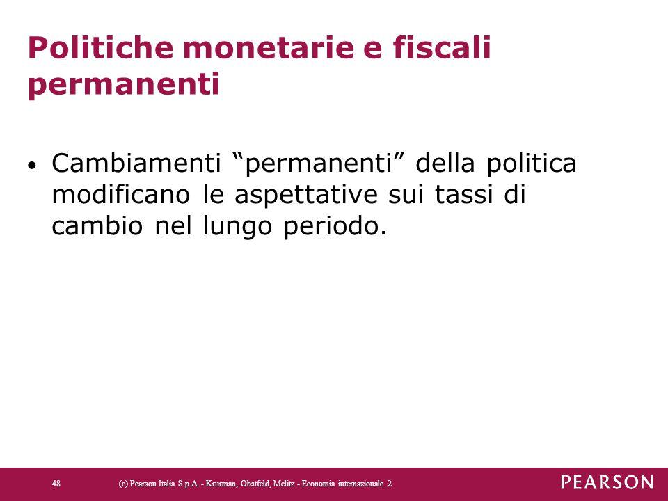 Politiche monetarie e fiscali permanenti