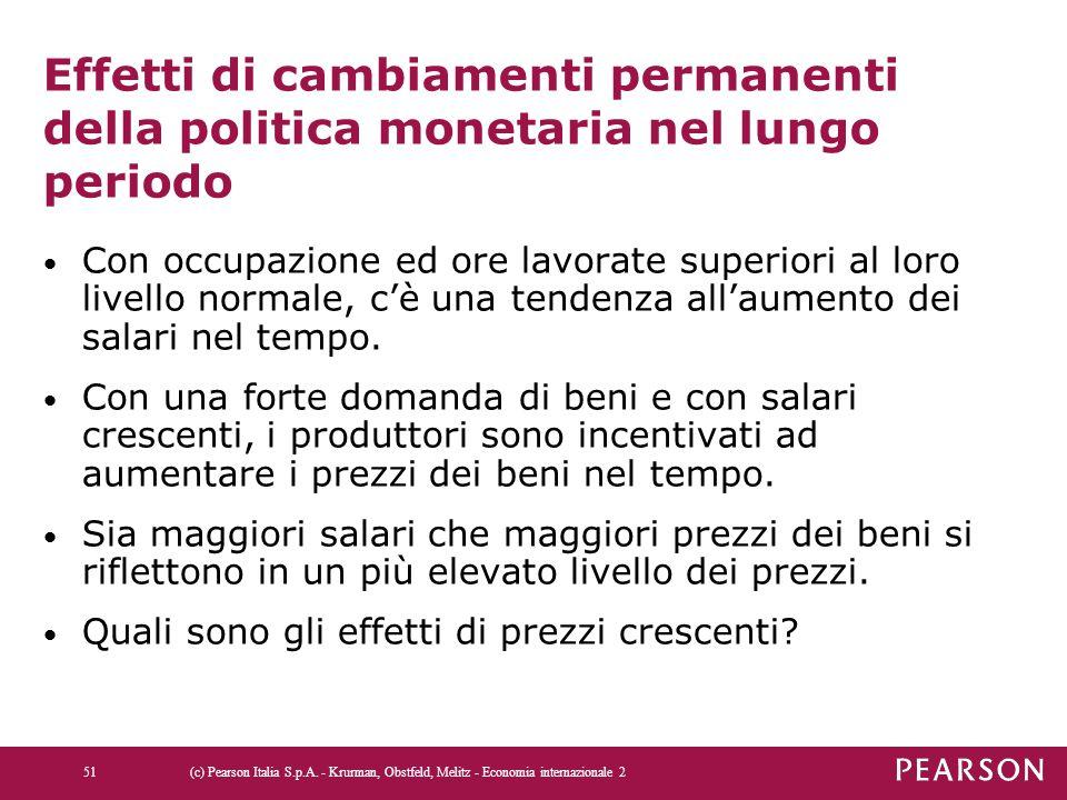 Effetti di cambiamenti permanenti della politica monetaria nel lungo periodo