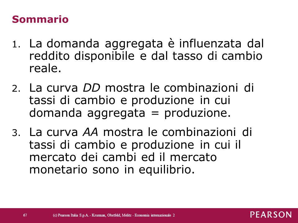 Sommario La domanda aggregata è influenzata dal reddito disponibile e dal tasso di cambio reale.