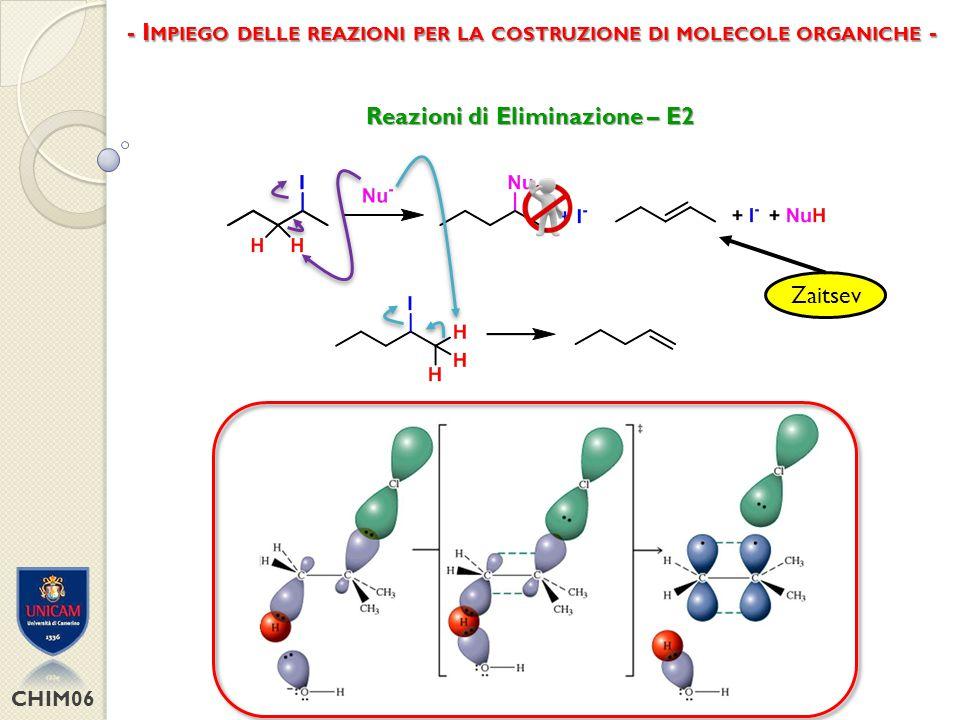 - Impiego delle reazioni per la costruzione di molecole organiche -