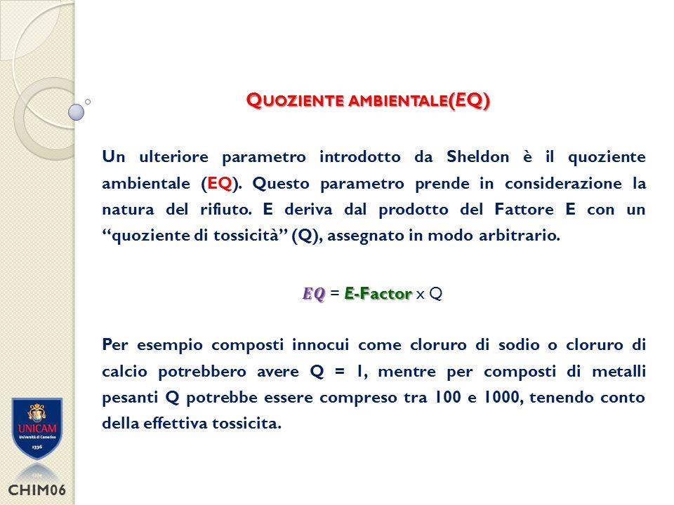 Quoziente ambientale(EQ)