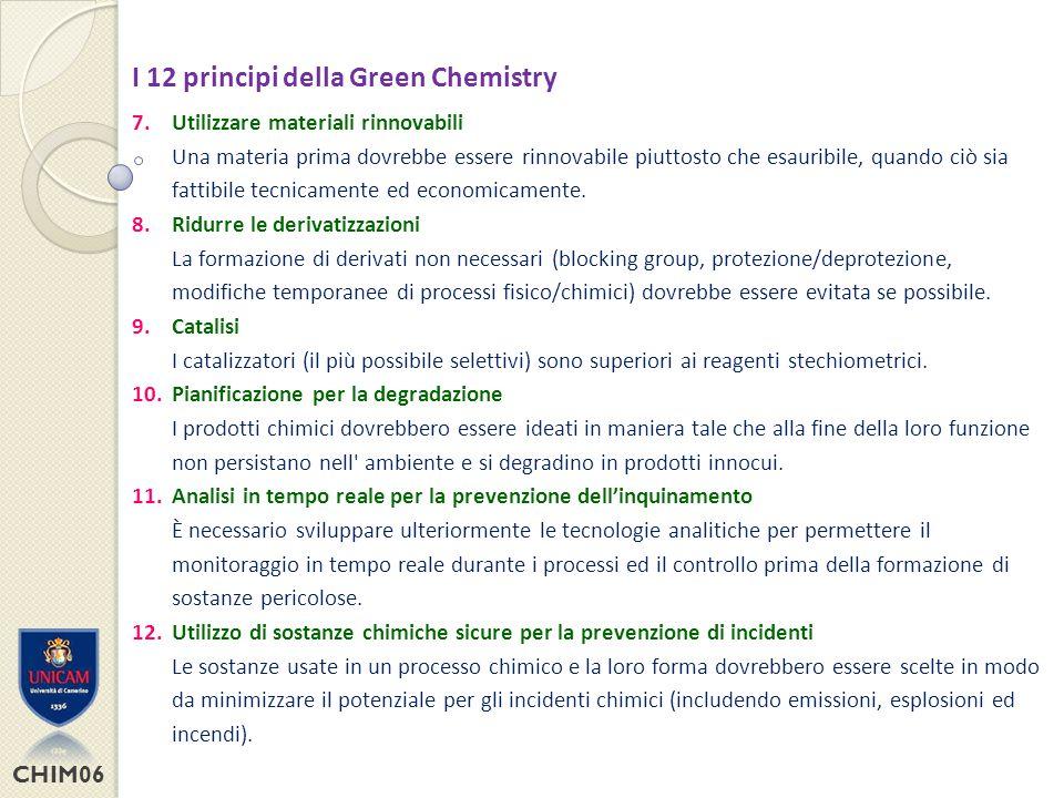 I 12 principi della Green Chemistry