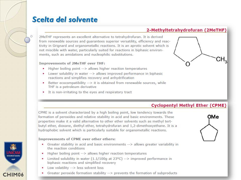 Scelta del solvente CHIM06