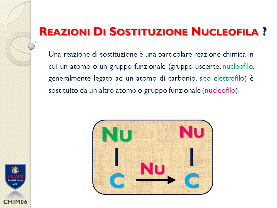 Reazioni Di Sostituzione Nucleofila