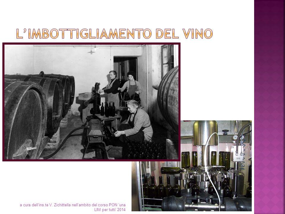 L'imbottigliamento del vino