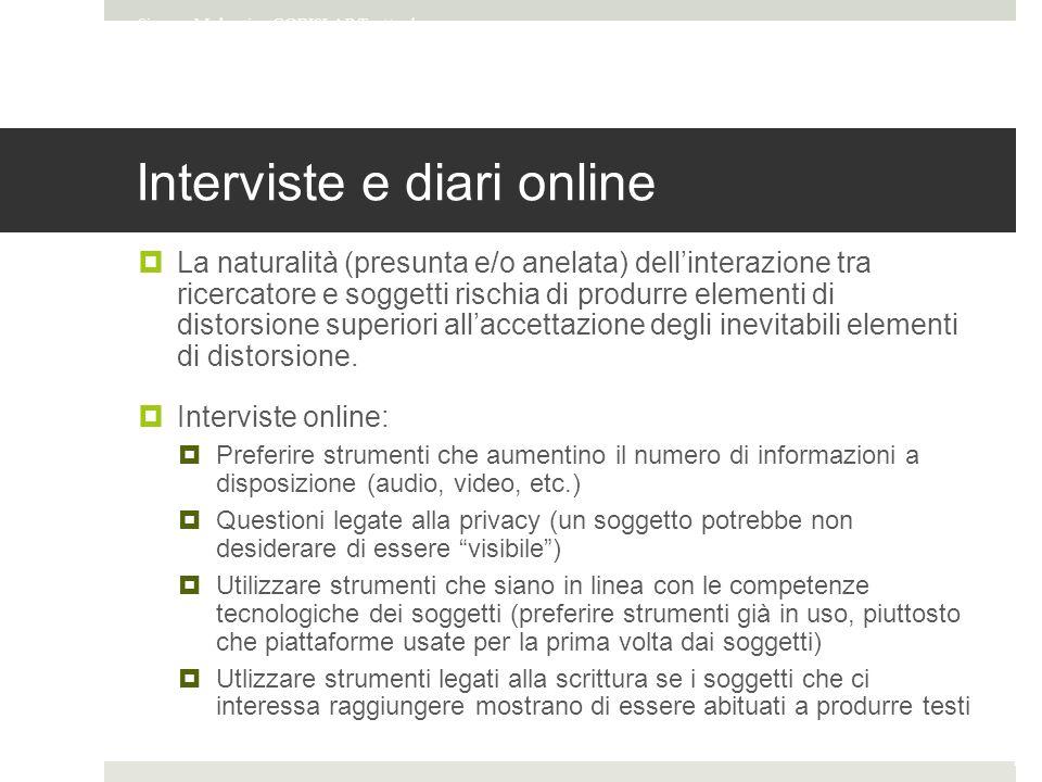 Interviste e diari online