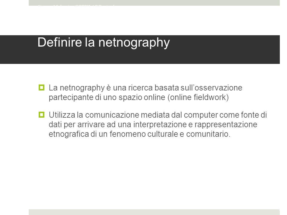 Definire la netnography