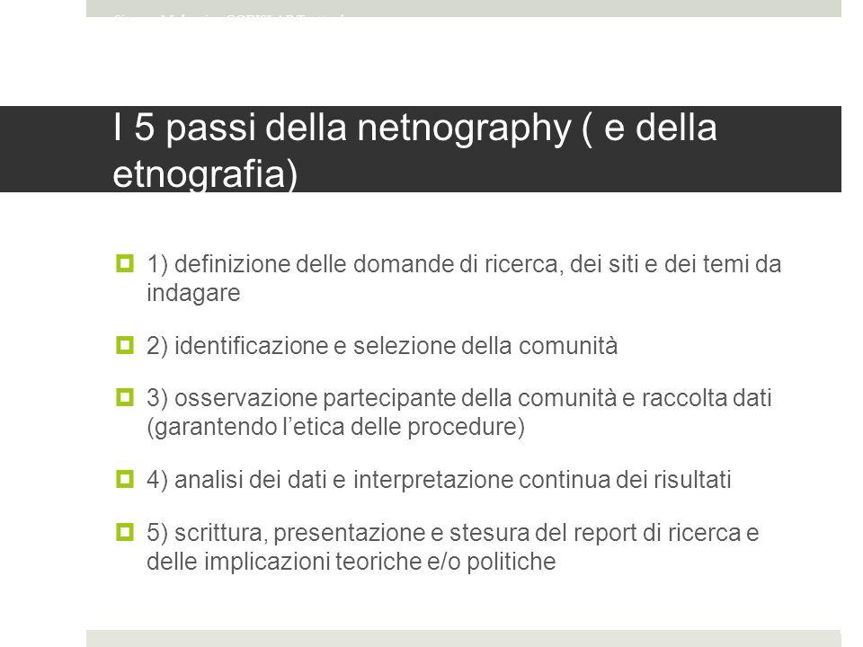 I 5 passi della netnography ( e della etnografia)