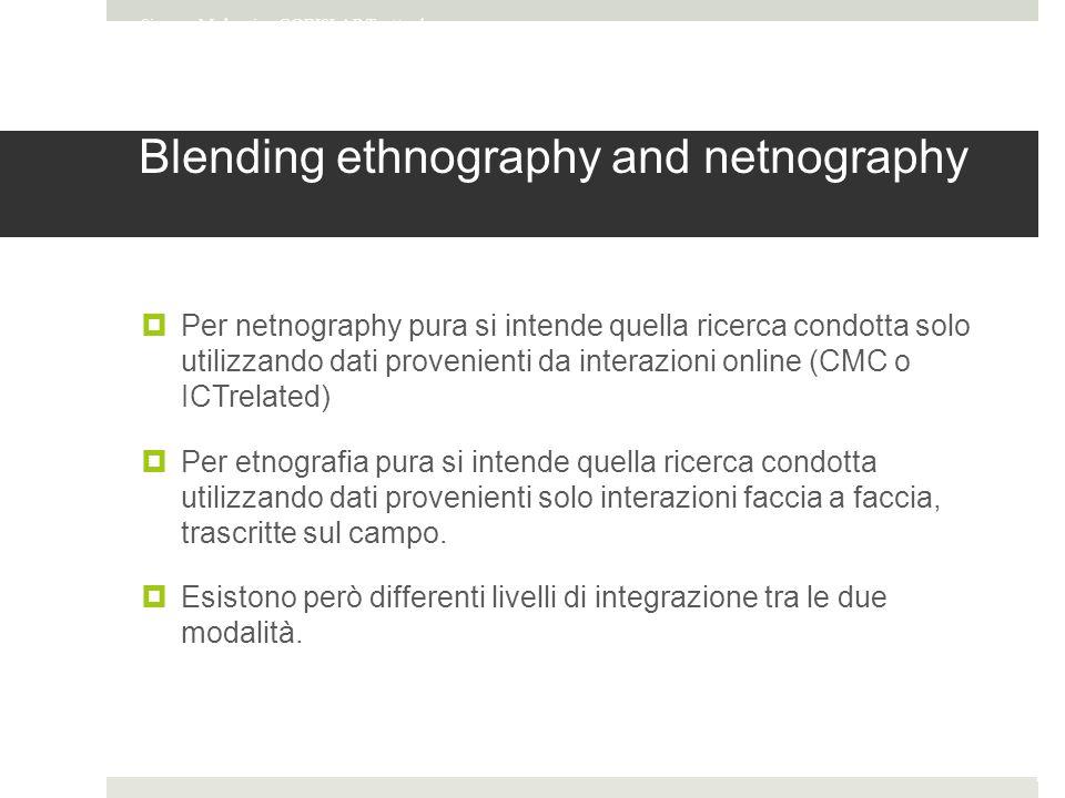 Blending ethnography and netnography