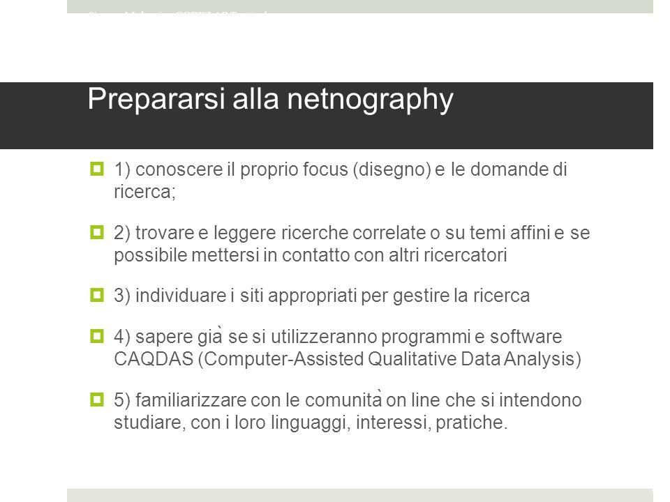 Prepararsi alla netnography