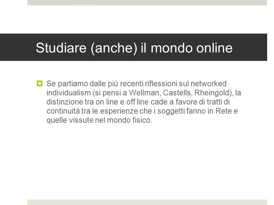 Studiare (anche) il mondo online
