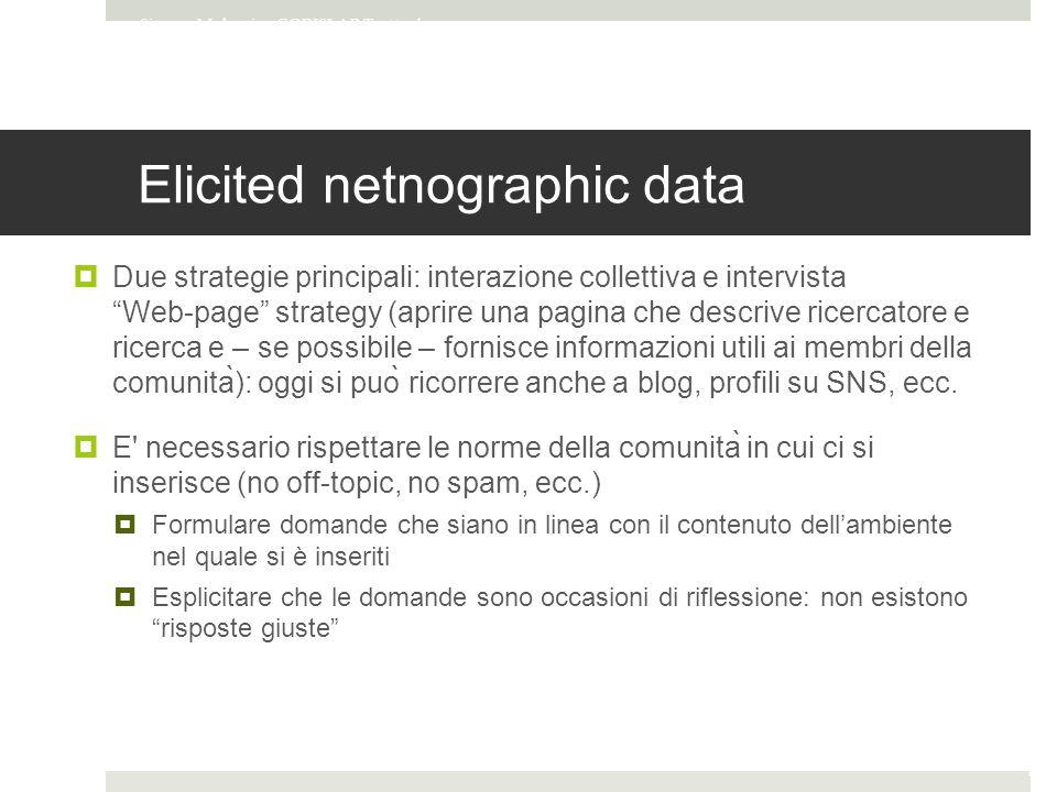 Elicited netnographic data