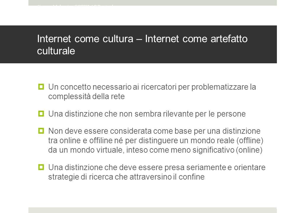 Internet come cultura – Internet come artefatto culturale