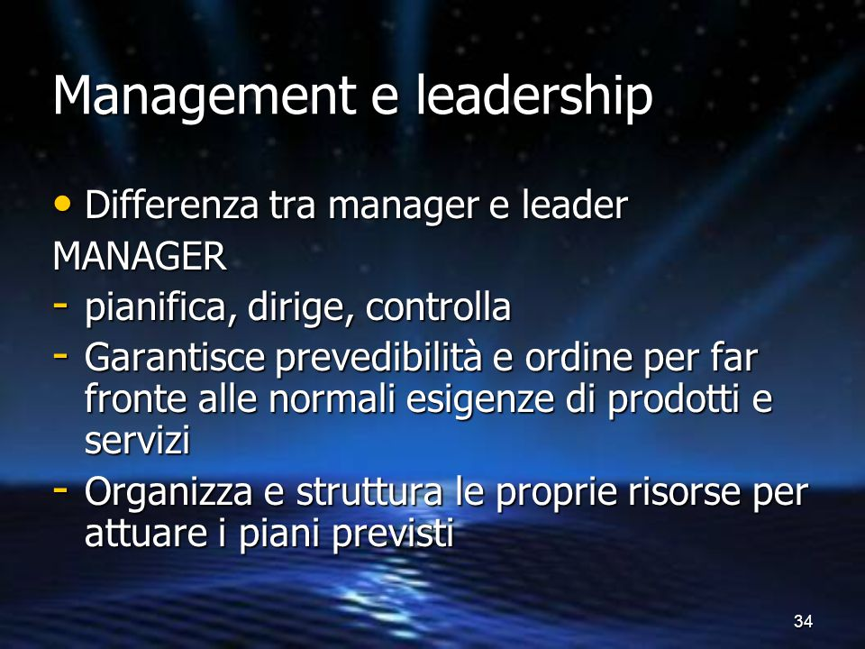 Management e leadership