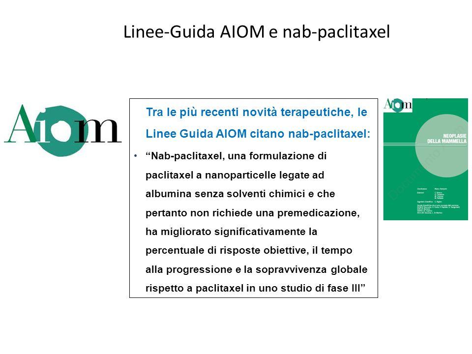 Linee-Guida AIOM e nab-paclitaxel