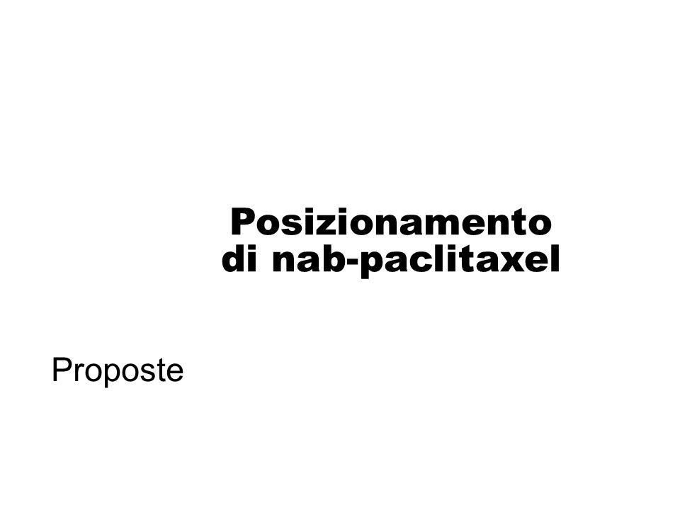 Posizionamento di nab-paclitaxel
