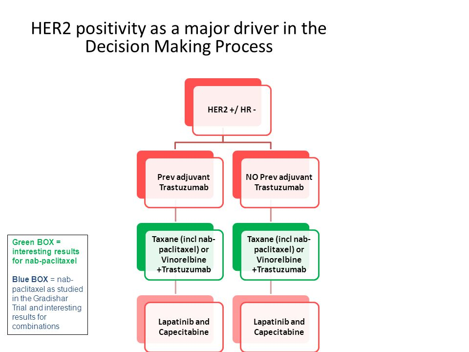 HER2 positivity as a major driver in the Decision Making Process