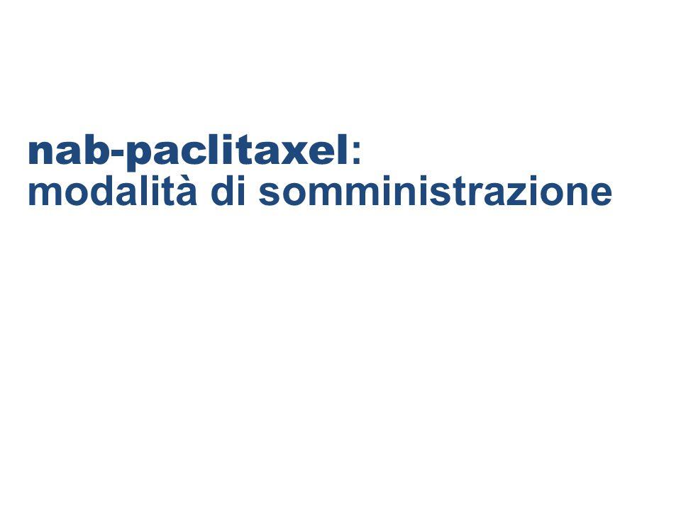 nab-paclitaxel: modalità di somministrazione