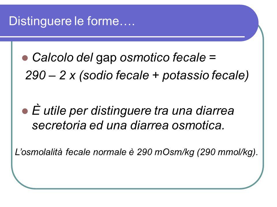 Calcolo del gap osmotico fecale =