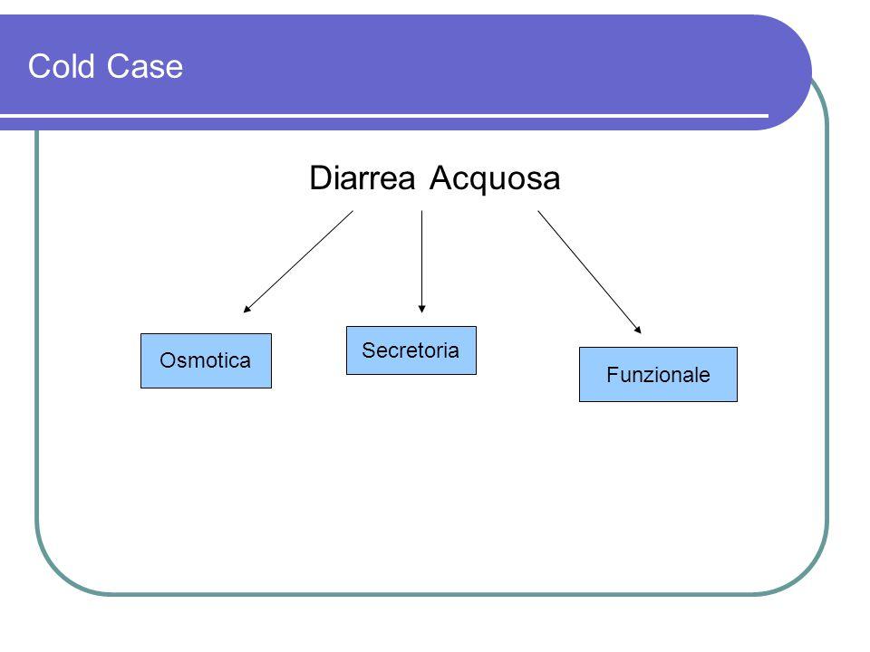 Cold Case Diarrea Acquosa Secretoria Osmotica Funzionale