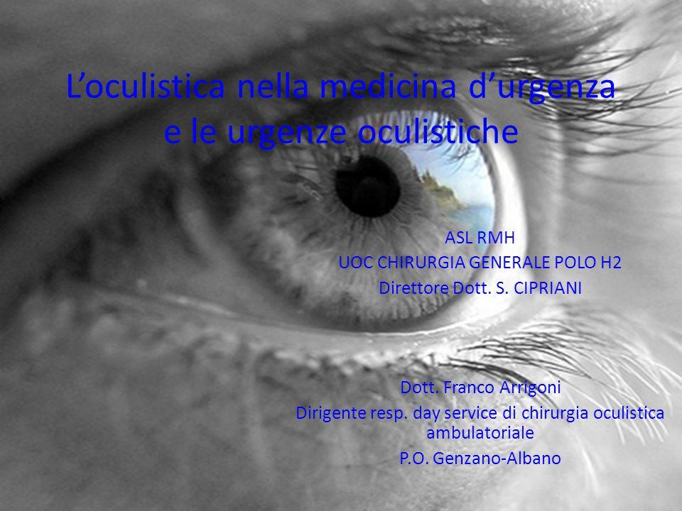 L'oculistica nella medicina d'urgenza e le urgenze oculistiche